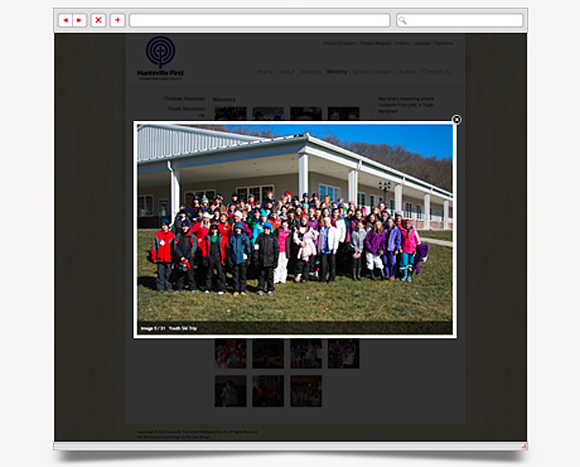 Web - Web Design - Huntsville First<br />United Methodist Church - Website 4