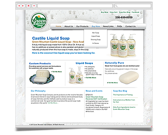 Web - Web Design - Green Mountain Soap Company - Website 2