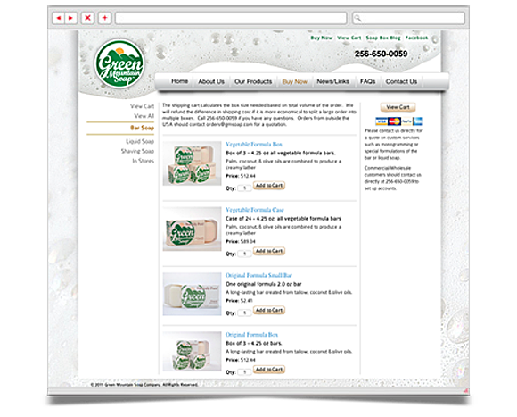 Web - Web Design - Green Mountain Soap Company - Website 4