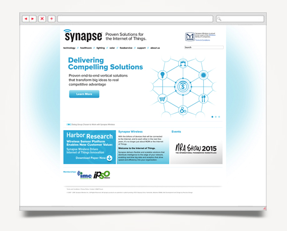 Web - Web Design - Synapse  Wireless - Website 1