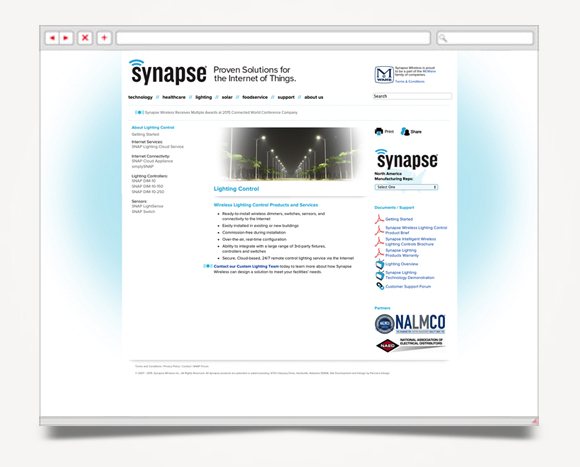 Web - Web Design - Synapse  Wireless - Website 4
