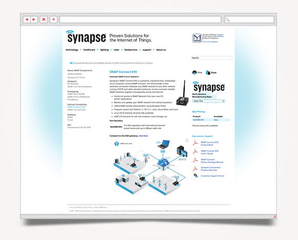 Web - Web Design - Synapse  Wireless - Website 5