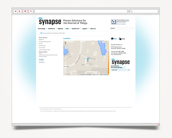 Web - Web Design - Synapse  Wireless - Website 76
