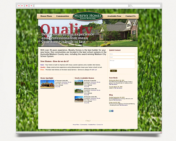 Web - Web Design - Murphy Homes - Website 1
