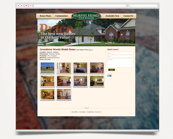 Web - Web Design - Murphy Homes - Website 2