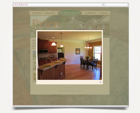 Web - Web Design - Murphy Homes - Website 3