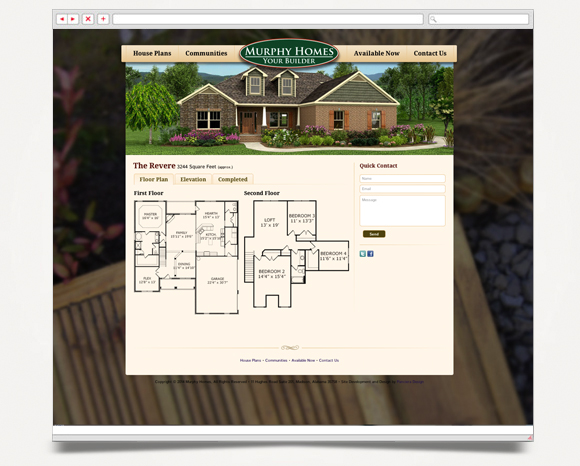 Web - Web Design - Murphy Homes - Website 4