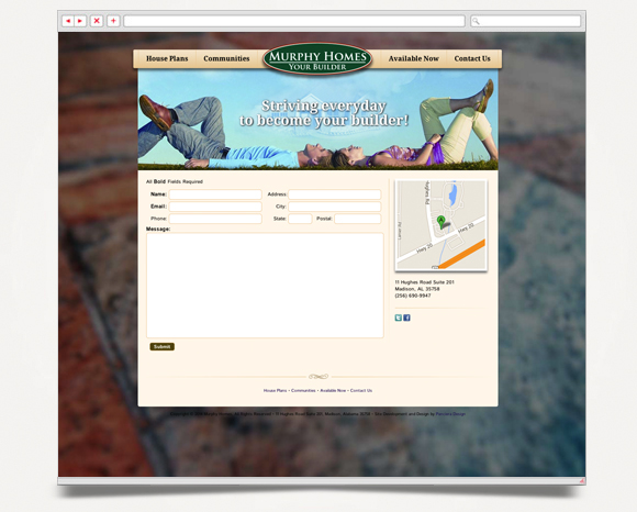 Web - Web Design - Murphy Homes - Website 6