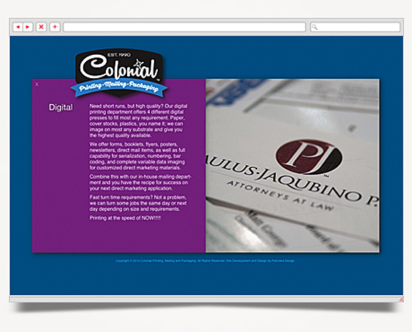 Web - Web Design - Colonial Printing, <br />Mailing And Packaging - Colonial  Printing, Mailing And Packaging - Website 4