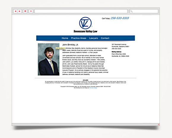 Web - Web Design - Tennessee Valley Law - Tennessee Valley Law Web Site 4