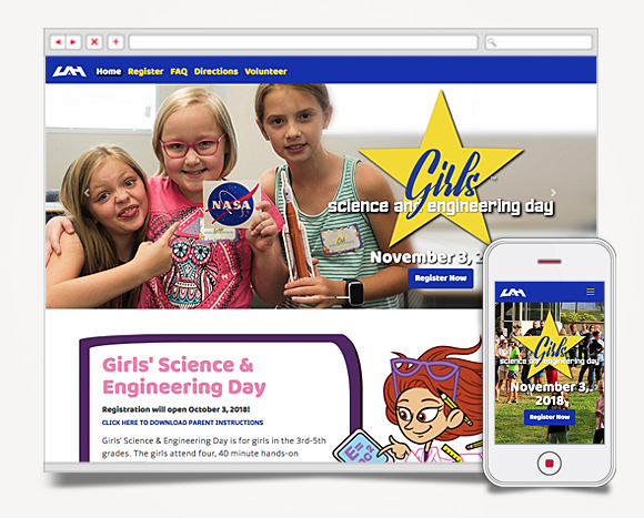 Web - Web Design - The University Of Alabama In Huntsville - Girl's Science Engineering Day 1