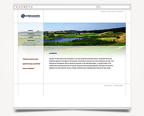 Web - Web Design - Solid Earth - Website 2
