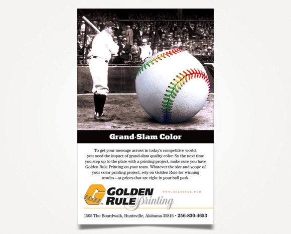 Print - Golden Rule Printing - Pocket Schedule Color Advertisement 1